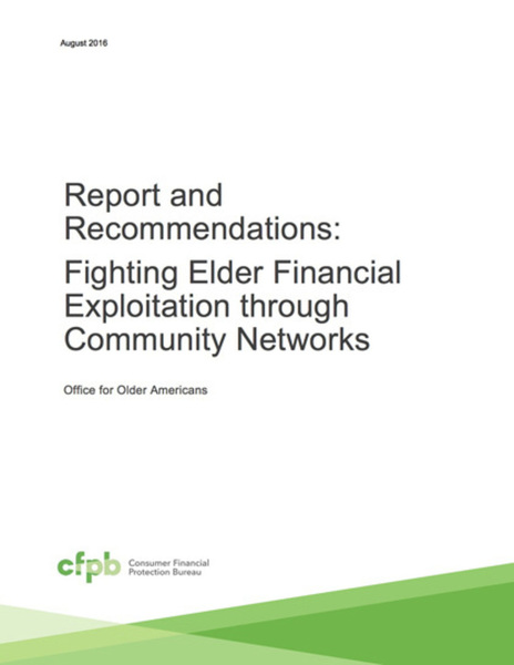 Fighting Elder Financial Exploitation through Community Networks